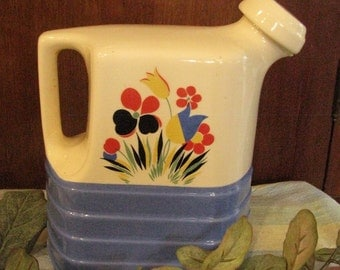 Vintage Gorgeous milk pitcher with lid, Hall