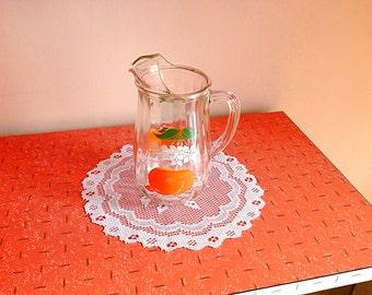Vintage Bartlett Collins orange juice glass pitcher