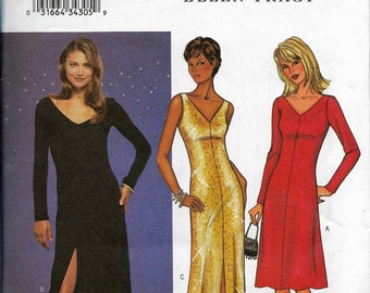 Butterick 3337 Gowns, Sewing Pattern, Three 3 Styles, Wedding, Christmas Party, New Years Party, Sizes 8-12, Factory Folded Uncut
