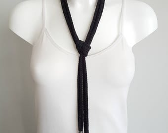 Knit necklaces, cord necklace, lariat necklace