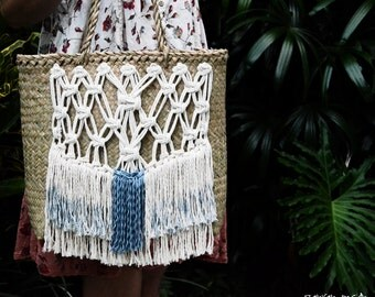 Macrame handbag / ranran design / straw bag