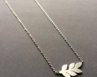 Leaf Necklace, Silver Leaf Necklace,  Bridesmaid Gift, Bridesmaid Necklace, Bridesmaid Jewellery