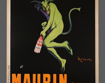Maurin Quina Leonetto Cappiello Poster Vintage Promo Advertising Poster 23.5 x 31.5