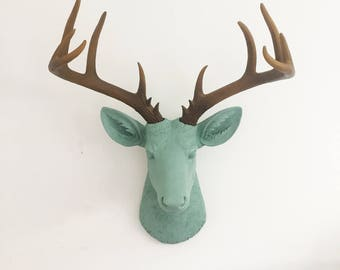 ANY COLOR Deer Head Wall Hanging // Antler Rack // Animal Wall Mount /