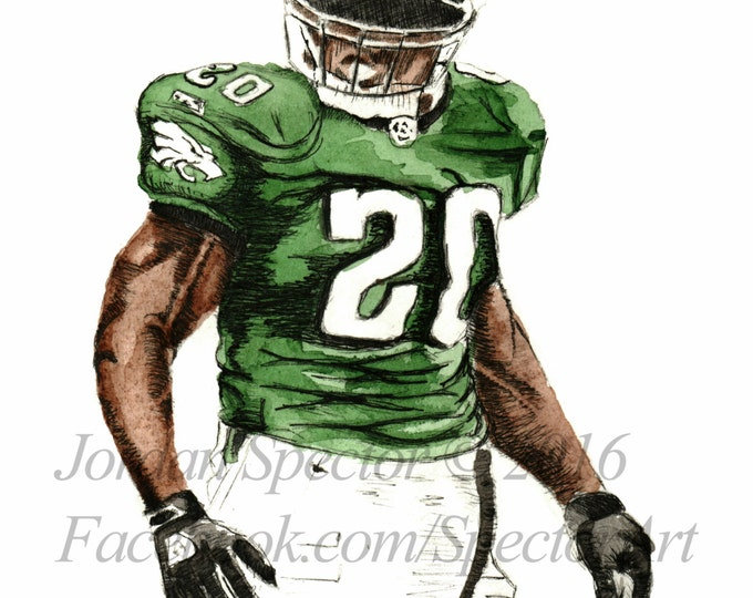 Philadelphia Eagles - Art - Brian Dawkins Print - Eagles - Wall Art- Man Cave Art - Eagles Decor - Dorm Decor - Gifts Ideas - Philadelphia