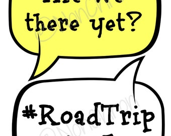 Road Trip Travel photo booth props vacation DIY