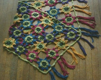 Crochet Flower Wrap PDF Crochet Pattern