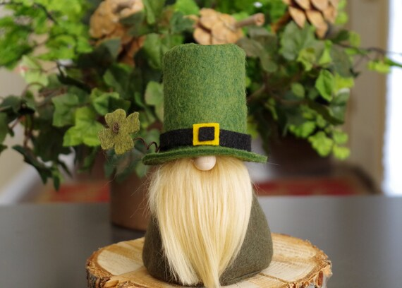 St Patrick's Day Gnome, Nordic Leprechaun, Irish Felt Gnomes, Fairy Gnome, Scandinavian Gnomes, Irish Gnome, Gifts, Ireland, Gnome Makers
