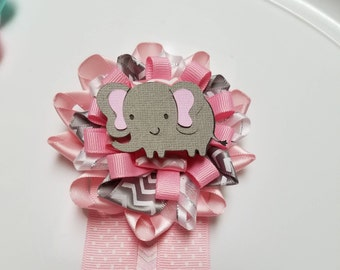 Elephant corsage, Elephant baby shower, Elephant pin, corsage pin, girly elephant corsage, boy baby shower