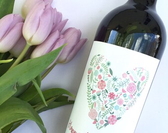 Mothers Day Gift Wine Personalized Label Gift for Mom Unique Mother's Day Mom Wine Label Mother Thank You First Time Mom