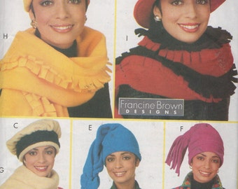 Misses Hat and Scarves Sewing Pattern Butterick 4756  uncut