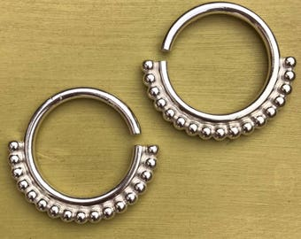 Mother India Ear Weights - Solid Sterling Silver - Ear Hangers for Stretched Lobes
