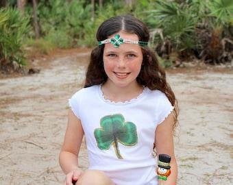 St. Patrick's Day Shirt - St. Patrick's Day Shirt for Girls - Shamrock Shirt - St. Paddy's Day Outfit - Irish - Vintage St. Patrick's Day
