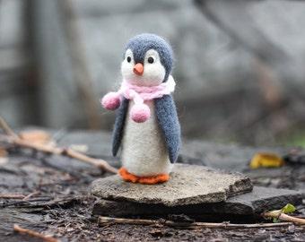 Needle felted Penguin, Christmas ornaments, Christmas Gift
