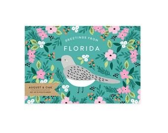 Florida State Bird Postcard - Set of 8