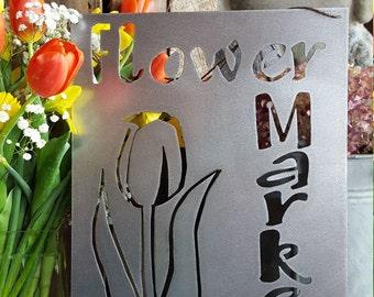 Tulips, Spring Decor, Farmhouse Decor, Rustic Sign, Metal Sign, Rustic Decor, Farmhouse Sign, Garden Sign, Flower Sign, Spring Sign, Market