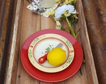 Rustic Wood Tray, Serving Tray, Rustic Decor, Farmhouse Home Decor, Ottoman Tray, Wood Tray, Table Tray, Rustic ottoman tray, pallet tray