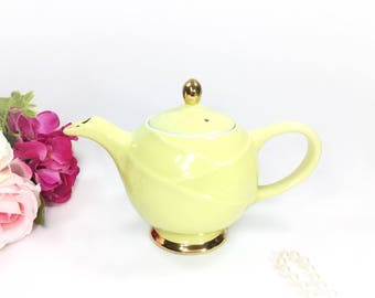 Yellow Vintage Hall Teapot, Yellow 6 Cup Hall Teapot For Tea Time Tea Party, Baby Shower, Wedding, Gift #A962
