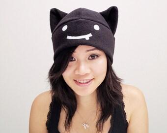 Ragnarok Online Hat - Ragnarok Cat Hat - Fleece Cat Hat - Ragnarok Hat - Cosplay Deviruchi Hat - Cat deviruchi Hat - Anime Hat - Manga Hat