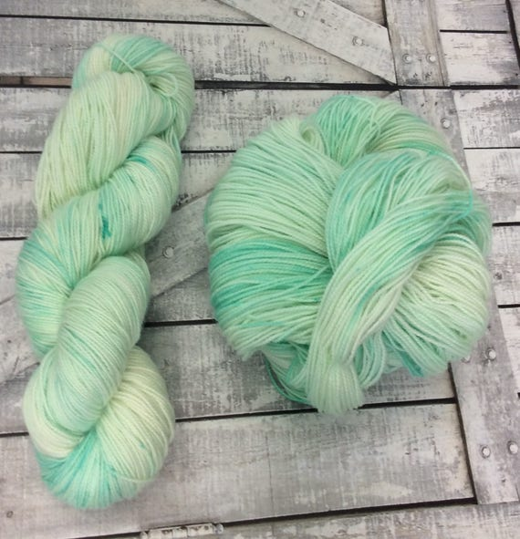 Hand Dyed Yarn,Sour Apple,Penny Candy Yarn,Fingering Weight,2 ply,80/20 Superwash Merino,100 gram,indie dyed yarn,knit & crochet,Toad Hollow