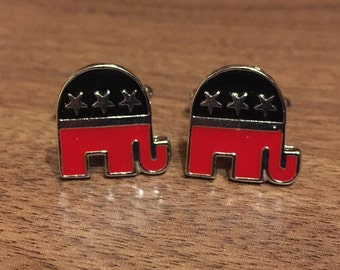 Political Republican Party - Pair of Cufflinks