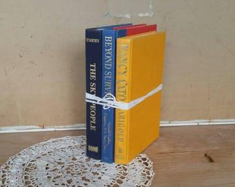 Vintage book bundle/ 3 hardcovers /display or read/ very good  condition