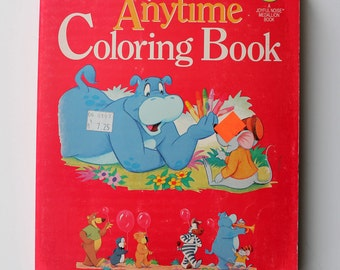 Super Rare Funtime Anytime Coloring Book Unused 1993