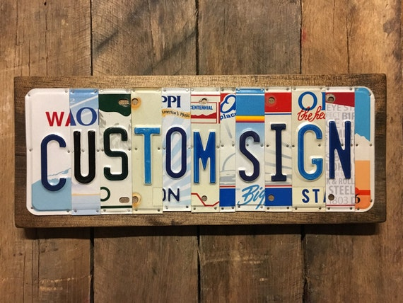 Custom Sign / Made to Order Gift / Unique Gift