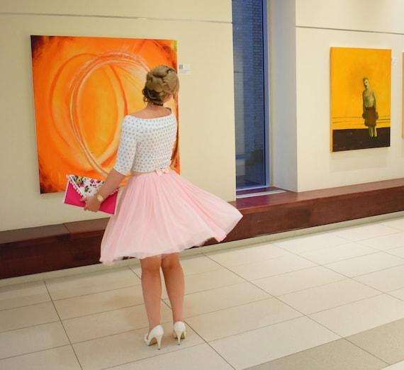 It Girl : Blush Pink Soft Tulle Skirt