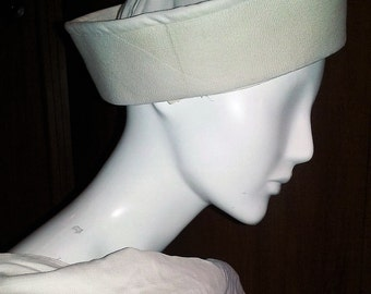 White Canvas Authentic Navy Sailor Hat Size 7 3/4
