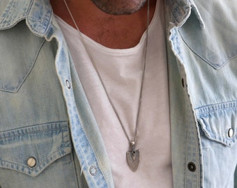 Men's Necklace - Men's Silver Necklace - Men's Jewelry - Men's Gift - Boyfriend Gift - Husband Gift - Guys Jewelry - Guys Mecklace