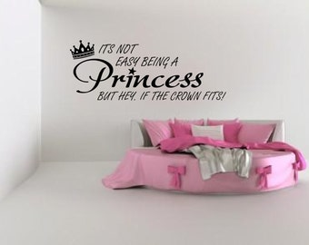 Princess girls disney   Wall sticker, decal ,quote wall art home decor removable diy stickers sign words sticky letters