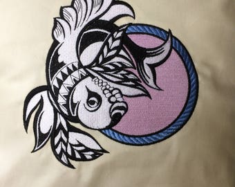 Beautiful Embroidered Pisces Zodiac