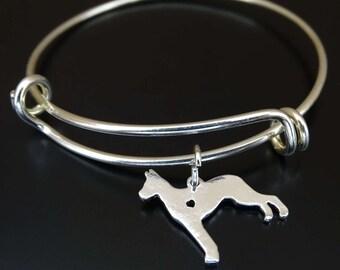 Great Dane Bangle Bracelet, Adjustable Expandable Bangle Bracelet, Great Dane Charm, Great Dane Pendant, Great Dane Jewelry, Great Dane Dog