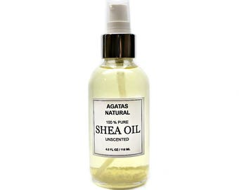 NEW - Pure Shea Oil Choose Your Scent /Body & Hair Oil/Bath Oil/Moisturizing Oil/ Luxury Body Oil/In a 4.0 FL OZ And 8.0 FlOZ Glass Bottles