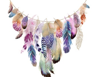BOHO GARLAND-Delicately handfinished with glitter.