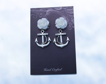 Brides Earrings, Sailors Wedding, Navy Wedding, Ship Wedding, Boat Wedding, Sea Wedding, Nautical Wedding Earrings, Wedding Accessories