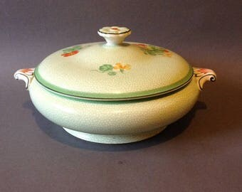 Vintage nasturtium design tureen or serving dish by Booth's