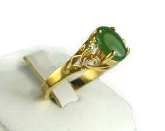 Vintage Imitation Imperial Jade Fashion Ring