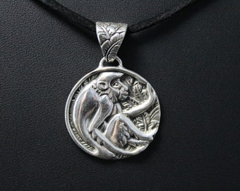 Sterling Silver Chinese Zodiac Year of the Monkey Pendant