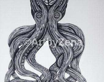 Octopus A4 print