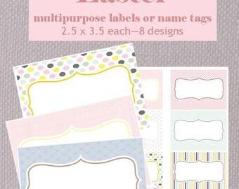 Easter name tags/multipurpose labels - Vintage Chicks Design