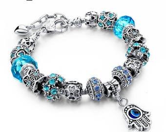 Authentic Pandora Style, Affordable 'Good Luck' Hamsa Bracelet