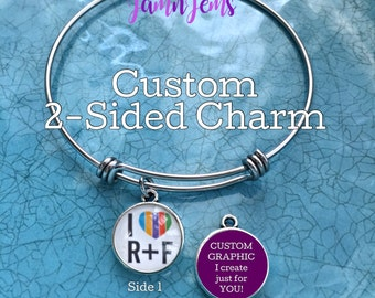 Create your own|Personalized|Rodan + Fields|Logo Charm Bracelet|BULK PRICING|Customized by You|Team Name|Personal Message or Quote