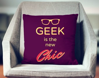 Geek Pillow | Geek Décor | Geek Gift | Geek Throw Pillow | Geek Cushion | Geek Decoration | Geek Pillow Cover |