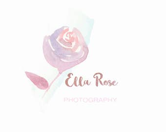 floral branding package,Watercolour photography Logo, Premade Logo Design,Branding package, Photography logo design,]Small Business Branding