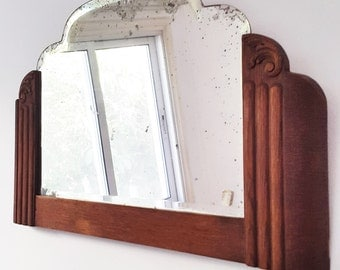 Vintage Deco Engraved Mirror