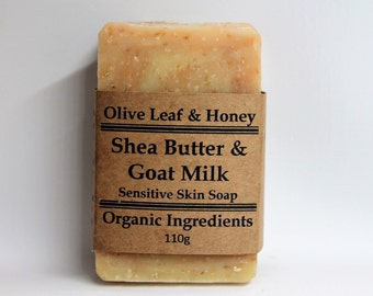 Natural Organic Soap, Shea Butter Soap, Goat Milk, Lavender, Palmarosa, Essential Oil, Oats, Silk, Honey, Pink Clay, White Clay, Beeswax