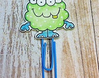 Green Monster Paper Clip