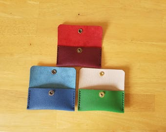 Handmade Leather Business Card Holder / Pocket Wallet